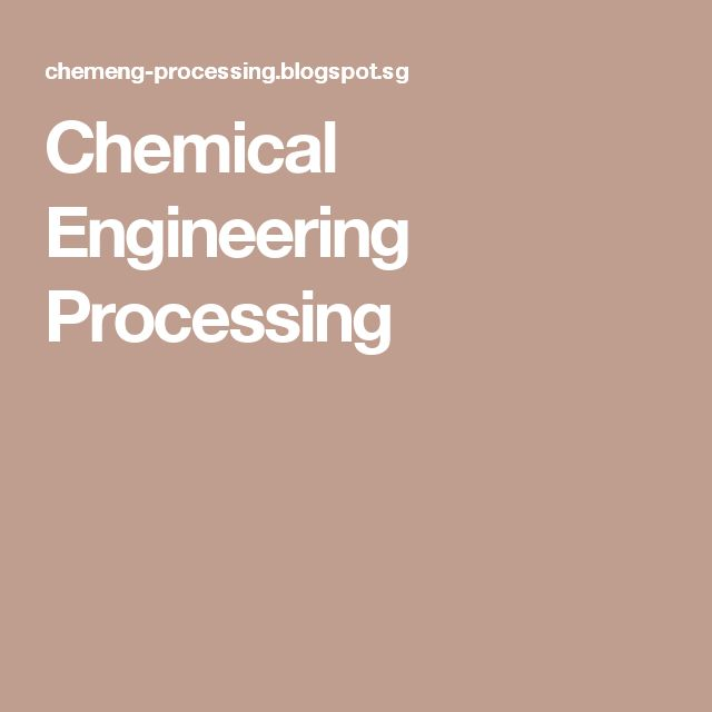 Chemical Engineering Processing