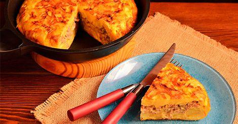 Tortilla de patata de ternera al queso azul