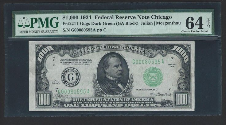 nice 1934 $1000 One Thousand Dollar Bill Currency Cash Note Money PMG CH CU 64 EPQ   Check more at http://harmonisproduction.com/1934-1000-one-thousand-dollar-bill-currency-cash-note-money-pmg-ch-cu-64-epq/