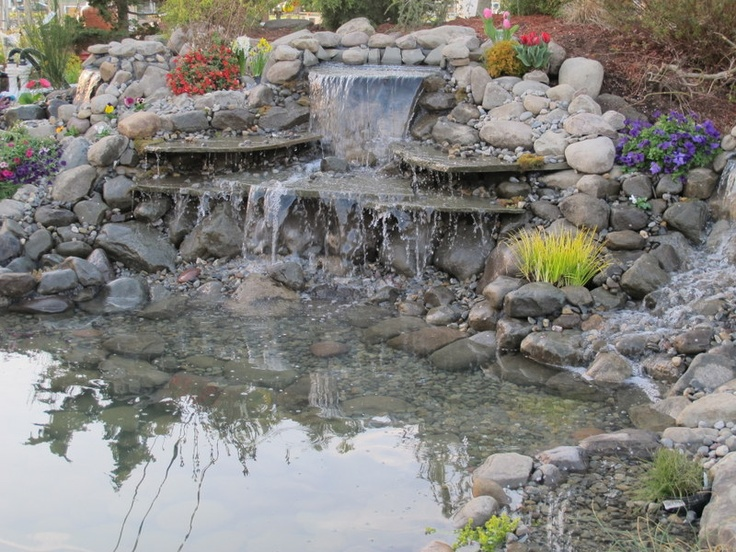 pond at fairfield garden center built by oasis creations