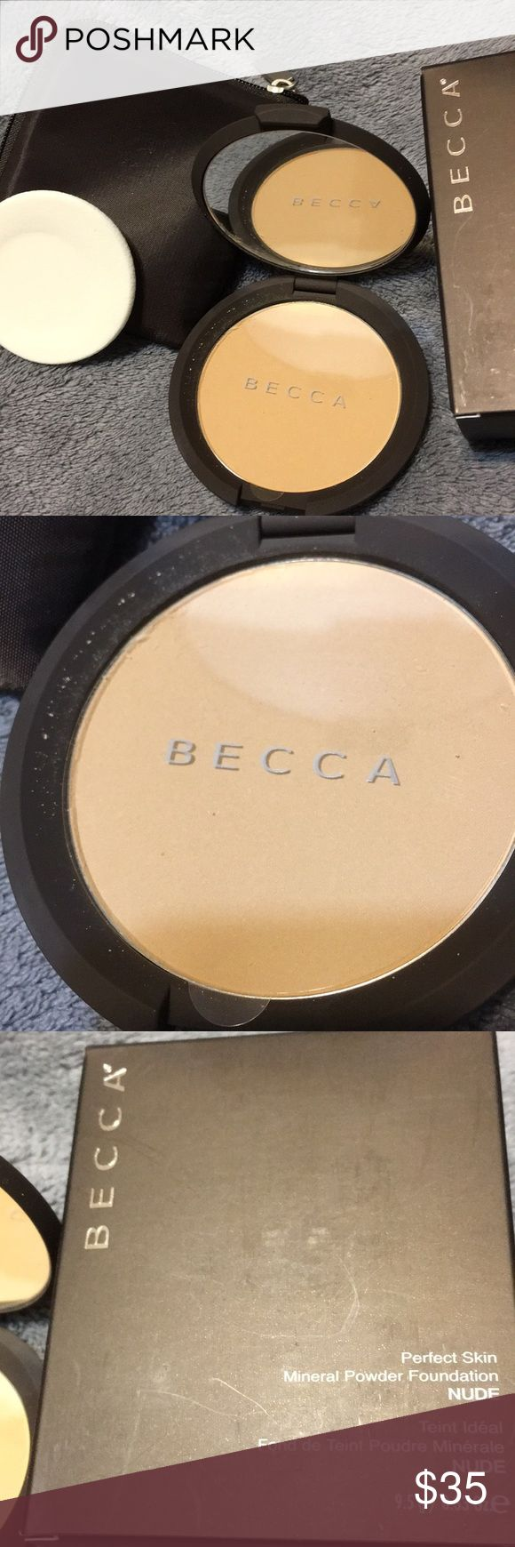 Becca Mineral Powder Foundation Nude Description A silky powder foundation made of pure mineral pigments Lightweight & effortlessly glides on Deliver sheer finish that feels light & looks fresh all day Buildable coverage with antioxidant protection Leaves you a soft, smooth & luminous complexion Suitable for all skin types BECCA Makeup