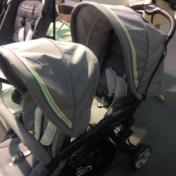La poussette double Diabolo de Babybus par Autour de bébé. Disponible début 2017.