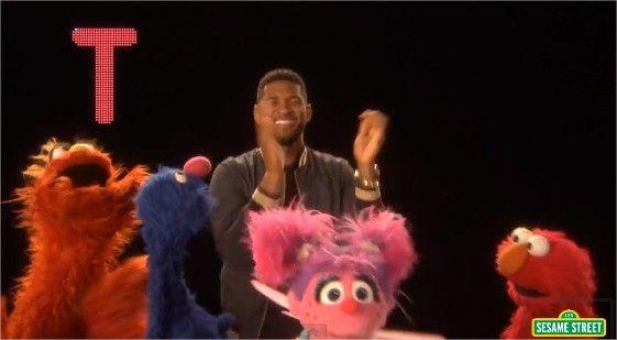 Usher y su nueva versión de la canción del ABC en Plaza Sesamo (Sesame Street) (+Video)