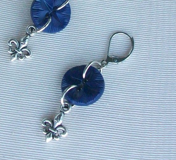 Vintage Button Earrings by stephsjewels4 on Etsy