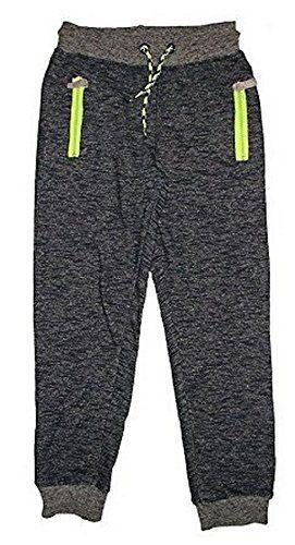 Pantalon de survêtement à capuche en coton pour enfant garçon new kids sport joggers (7-8 ans)