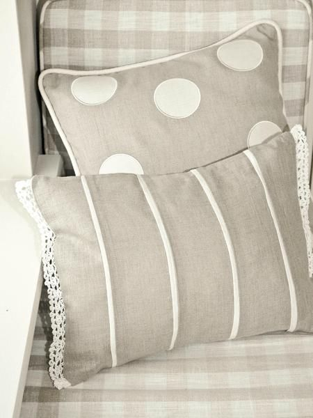 Nordic house Linen Cushion lace edge - perfect addition to my over cushioned bed !