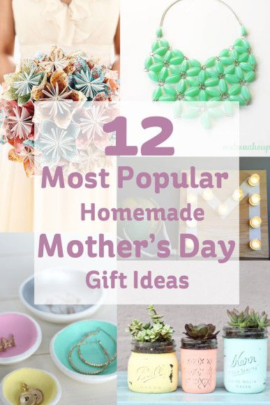 Most Popular Homemade Mother's Day Gift Ideas #MothersDay