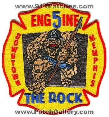 Memphis Fire Department Engine 5 MFD Downtown The Rock Thing Patch Tennessee TN