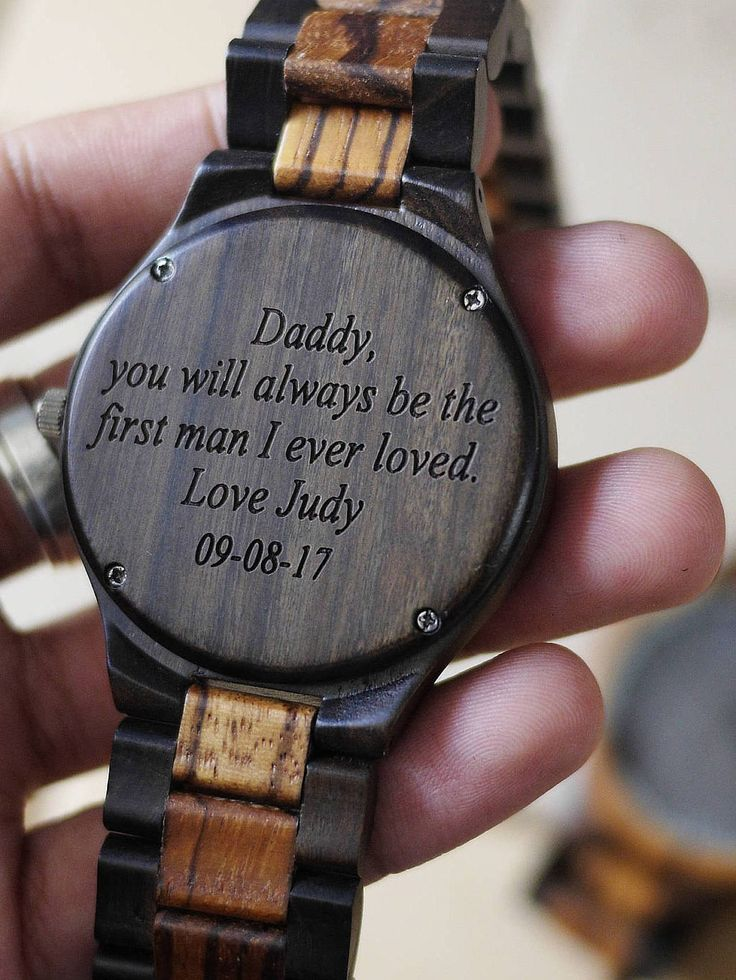 Engraved Wood Watch,Personalized black Wood Watch,Wooden watch for men,Personalized men Watch,Wood men Watch,Personalized Watches for him