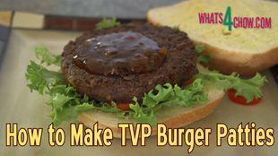 How to Make TVP Vegetarian Burger Patties – Textured Vegetable Protein Burger Patties