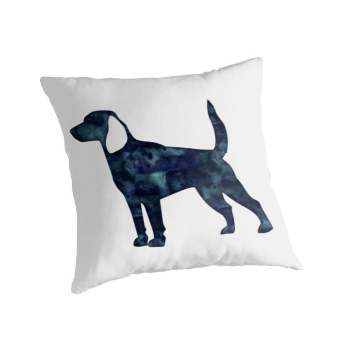 Beagle Hunting Hound Dog Black Watercolor Silhouette by TriPodDogDesign