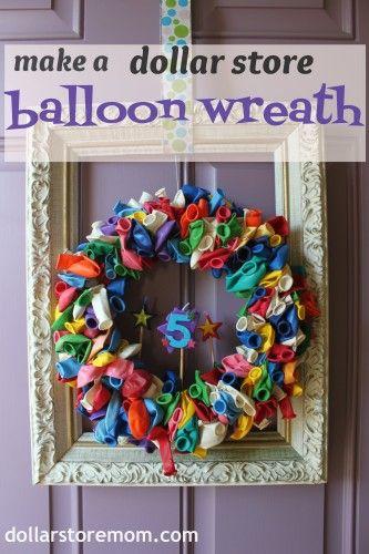 Dollar Store balloon wreath