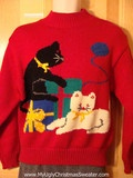 Crazy cat lady sweater from www.MyUglyChristmasSweater.com #uglysweaters #ryucs Rock Your Ugly Christmas Sweater