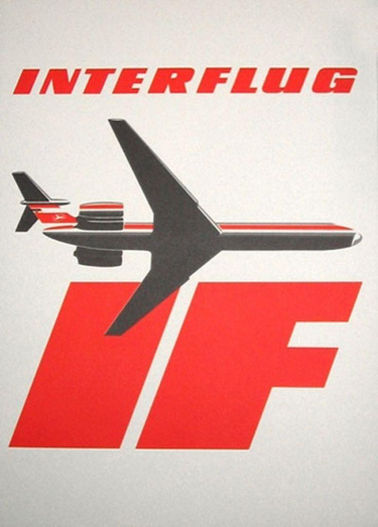 #Interflug #DeutscheDemoktratischeRepublik #EastGerman #airline #poster #ad #vintage