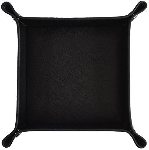 Vegan Leather Saffiano Valet Tray by Metier Life | Nightstand Organizer for Jewelry, Keys, Cell Phones and Personal Accessories | Catchall for Home and Office #Vegan #Leather #Saffiano #Valet #Tray #Metier #Life #Nightstand #Organizer #Jewelry, #Keys, #Cell #Phones #Personal #Accessories #Catchall #Home #Office