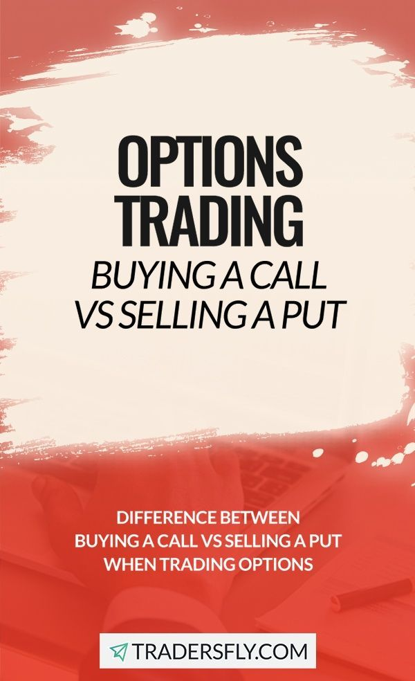 Buying A Call Vs Selling A Put Trading Options Option Trading