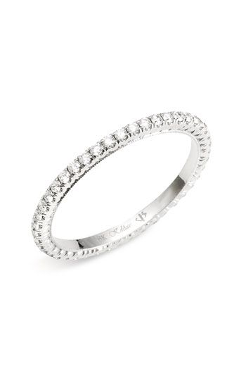 Simple diamond eternity band set in white gold. Maybe too simple? Image Source: http://shop.nordstrom.com/S/jack-kelege-diamond-eternity-band/3212148?cm_ven=pinterest&cm_cat=pinit&cm_pla=site&cm_ite=383756