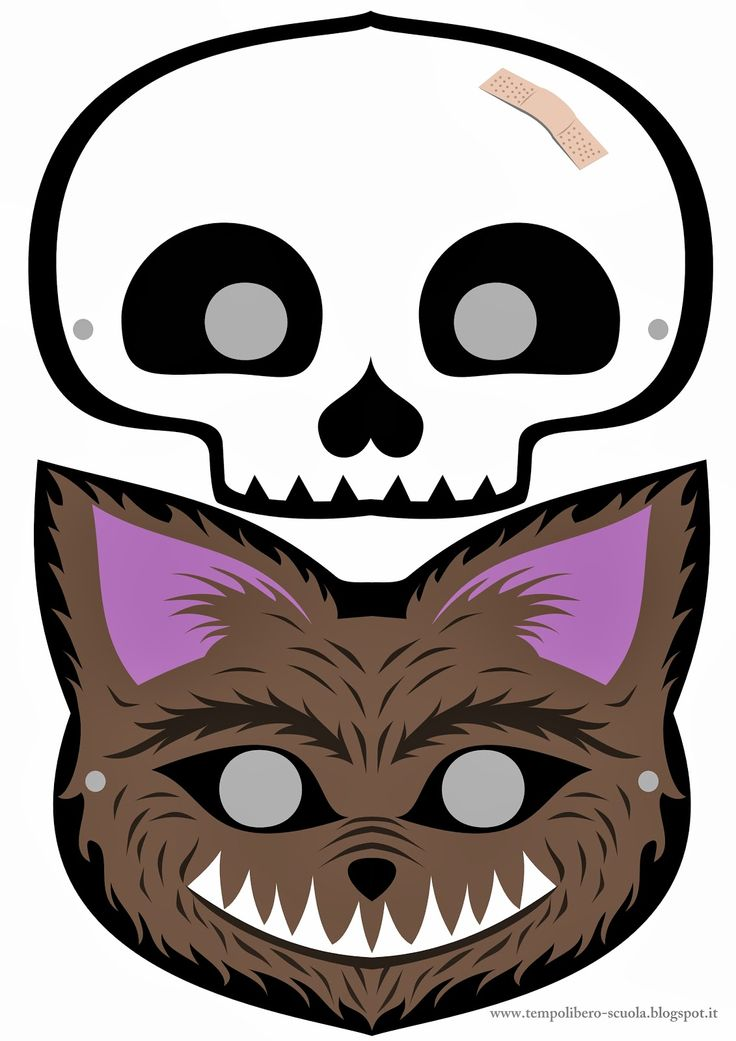 tempo libero: Halloween masks- mascherine per Halloween