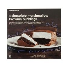 Chocolate Marshmallow Brownie Puddings 270g from www.woolworths.co.za