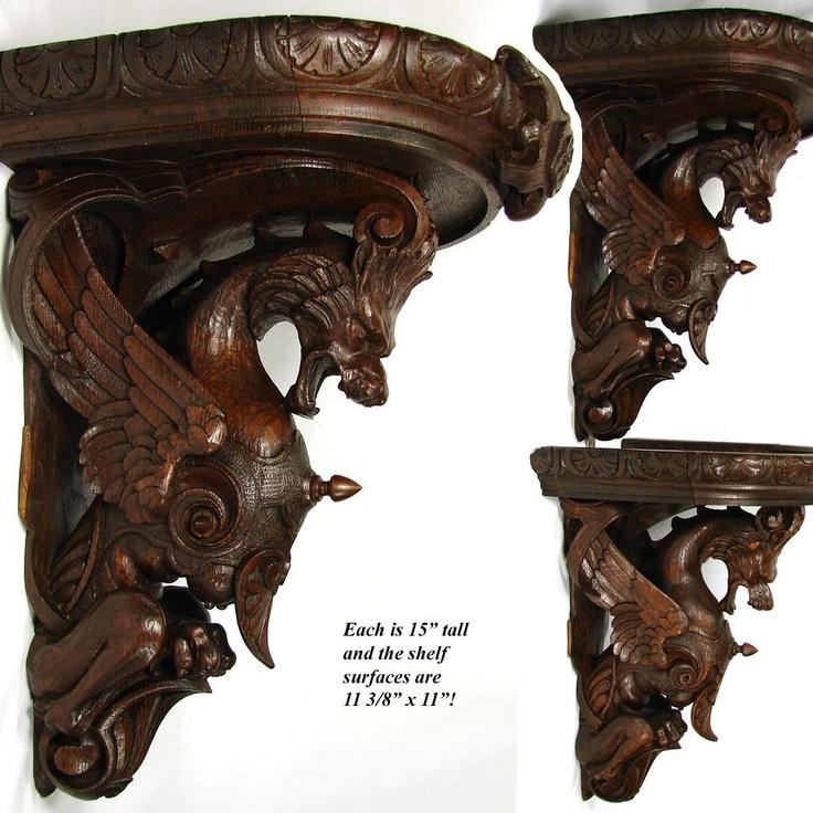 Magnificent Antique Victorian Carved Oak 15