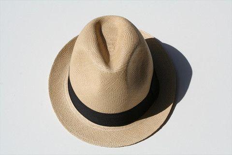 panama hat - trillby - tan