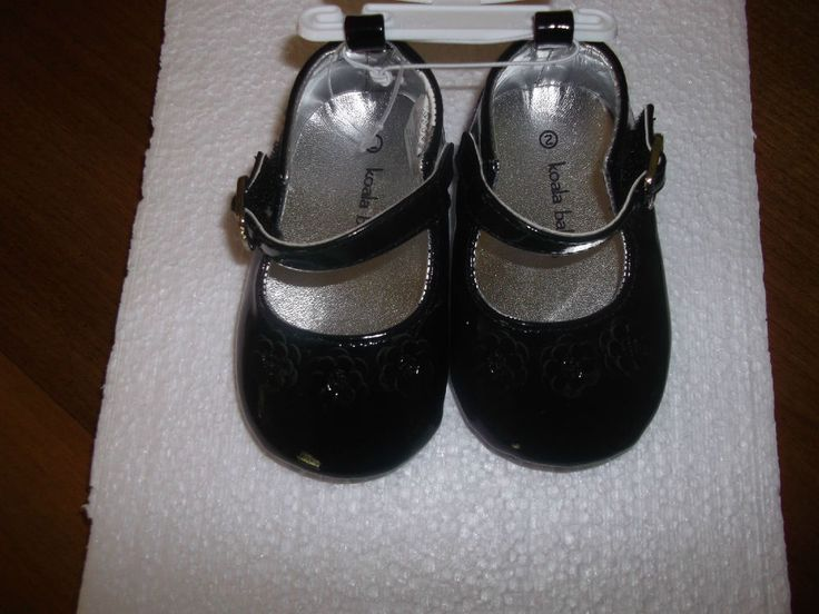 BLACK MARY JANES SIZE 2 KOALA BABY SHOES NEW WITH TAGS