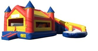 19ft Castle with wrap around slide