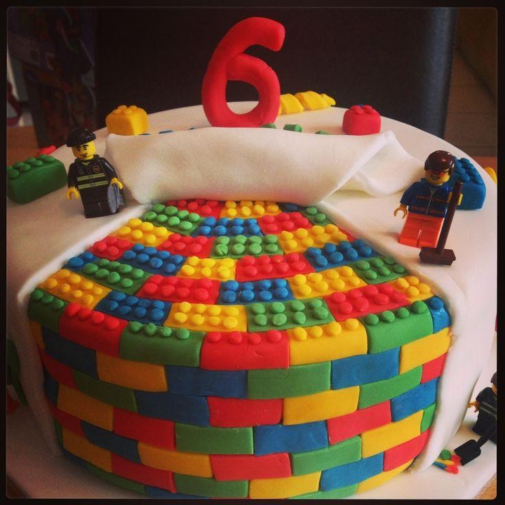 Lego cake hand made lego blocks lego cake cake 6th