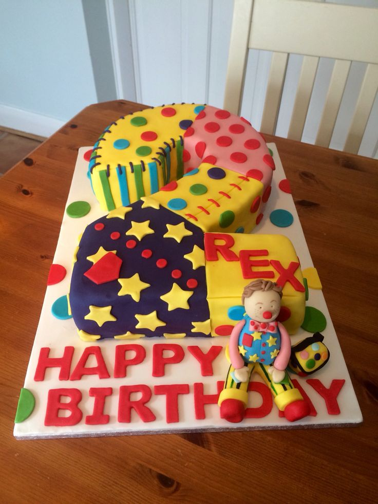 This colourful Mr Tumble cake will impress the kids no end.