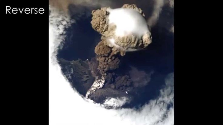 Volcanic Eruption Snapped From Space  - New Video Visualization ,.;'