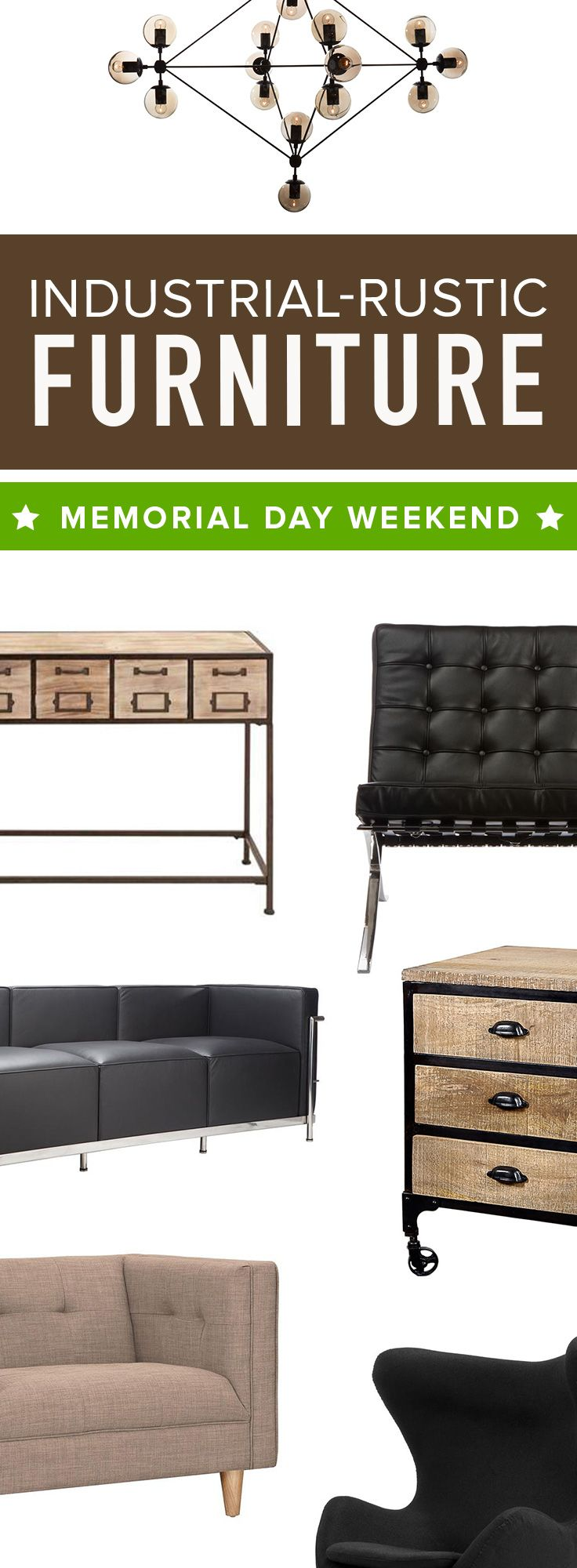 Memorial Day Weekend Clearance Sale! Shop Modern Industrial Furniture & Décor Before It's All Gone at dotandbo.com | Sale Runs 5/22/15-5/25/15