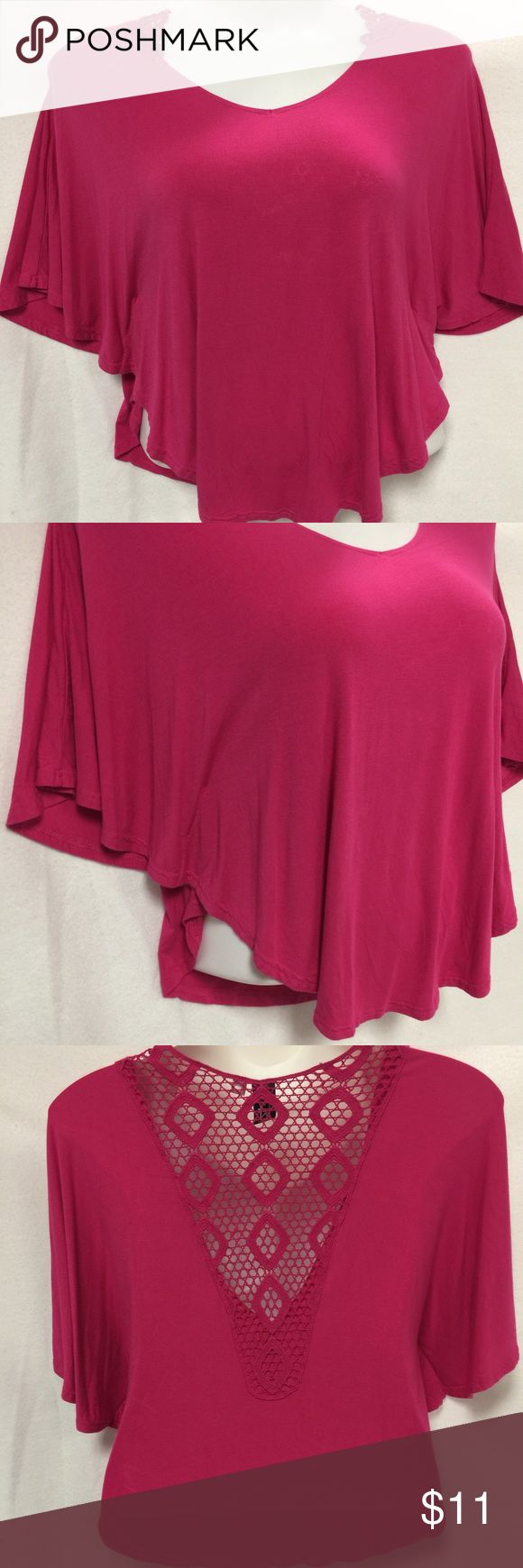Pink Batwing Top Pink Batwing Top Lace back flattering cut ;) Marc Bouwer Tops