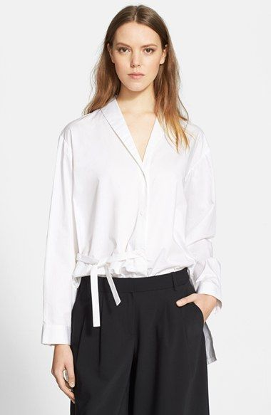 Tibi+Satin+Poplin+Oversize+Shirt+available+at+#Nordstrom