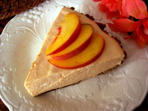 Peach Chiffon pie with ginger snap crust
