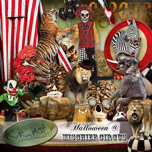 Halloween @ Mischief Circus    #digitalcollage #digital #art #photomanipulation #artjournaling #scrapbook #halloween #haunted #circus