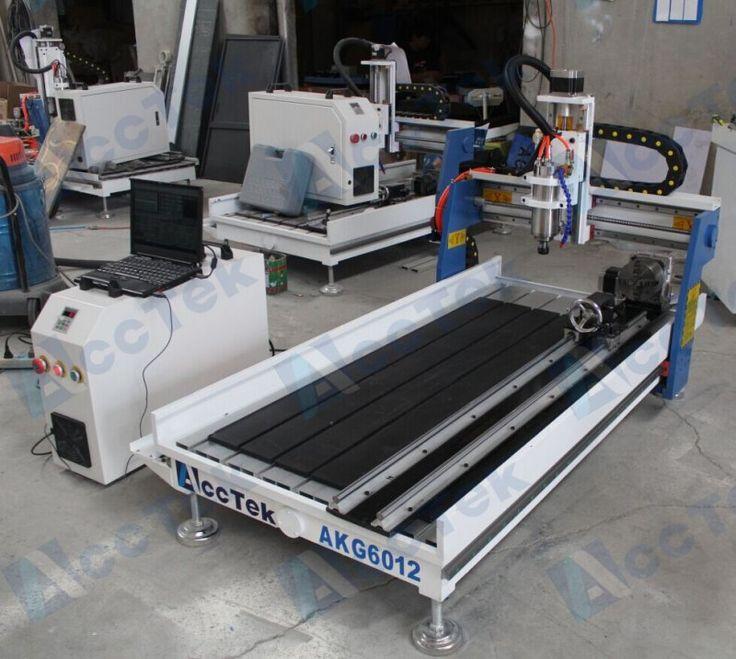 Acctek mini multipurpose cnc machine AKG6090/6012 for wood ,stone ,metal/mini cnc lathe machine price