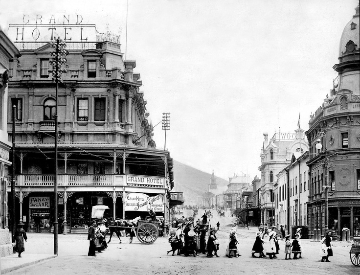 It is 1897, this is the intersection Strand Street and Adderly Street