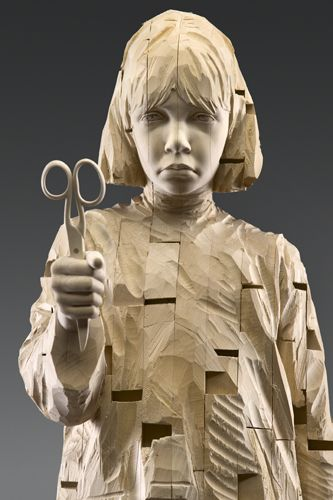 Gehard Demetz - Contemporary Artist - Wood Sculpture - 2007 - Gloomy Sunday.