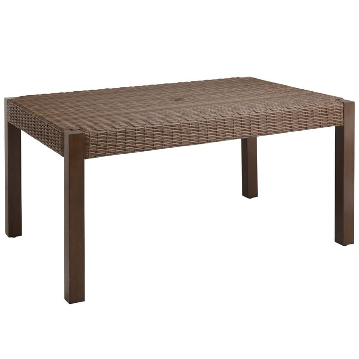 Echo Beach Dining Table   Latte   Wrought Iron   Outdoor