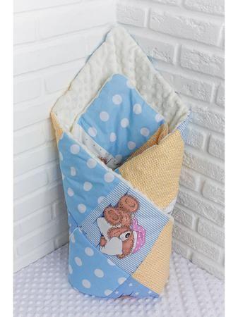 """Katerina Bleska&Tamara Savin Конверт  — 3980р. ----------------- Лоскутный конверт """"Сонные мишки"""", голубой Прекрасный конверт для выписки в дальнейшем отлично можно использовать как одеяло в кроватку или коляску. Верх одеяла - это натуральный хлопок, приятный на ощупь и безопасный для малыша. Нижняя часть - это нежный и мягкий плюш, дарящий тепло и уют и очень простой в уходе: быстро сохнет и не требует глажки. Внутри одеяла - холлофайбер, материал, специально разработанный для детских…"""