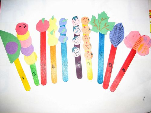 craft ideas with lolly sticks popsicle stick puppets eric carle puppet 6328