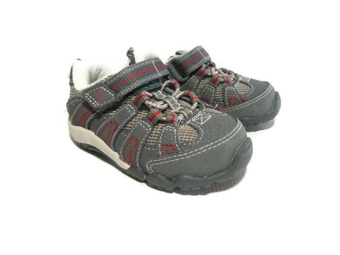 Stride Rite 4 Jasper Sport Sneaker Gray Red Shoe Slip On Toddler Baby Boy New  #StrideRite #CasualShoes