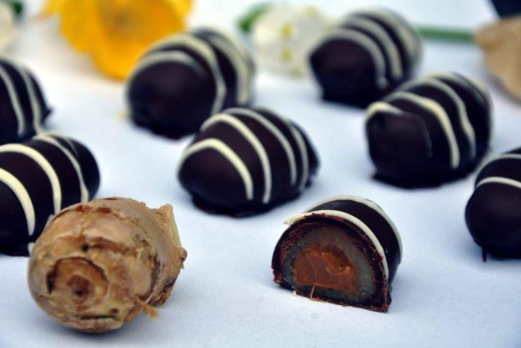 Påskeæg med ingefær marcipan og karamel (Dulce de Leche), Andet,Påske, Lækkeri, Julekonfekt, opskrift