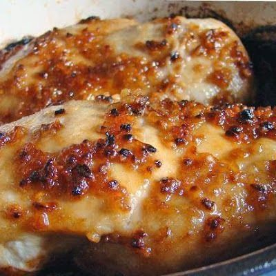 You will need:  4 boneless skinless chicken breasts -thin 4 garlic cloves, minced 4 tablespoons brown sugar 3 teaspoons olive oil 1 teaspoon salt