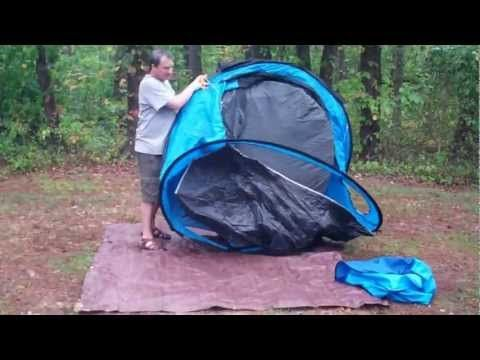 Quechua Waterproof Pop Up Camping Tent 2 Seconds +IIII, 4 Man Double Lining - YouTube
