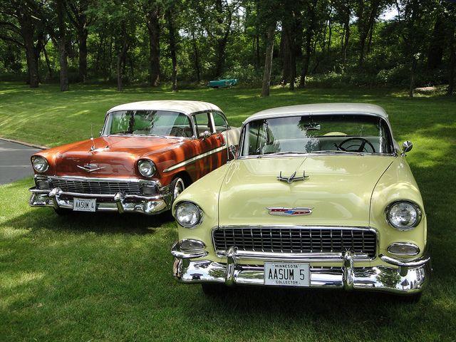 56 55 Chevrolet Bel Air - Wilmar Car Club 5th Annual Classic Car Cruise-In (by DVS1mn, via Flickr)