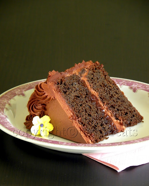 Eggless Chocolate Cake Wilton