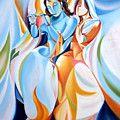 Lord Krishna Painting by Gurdeep Sharma