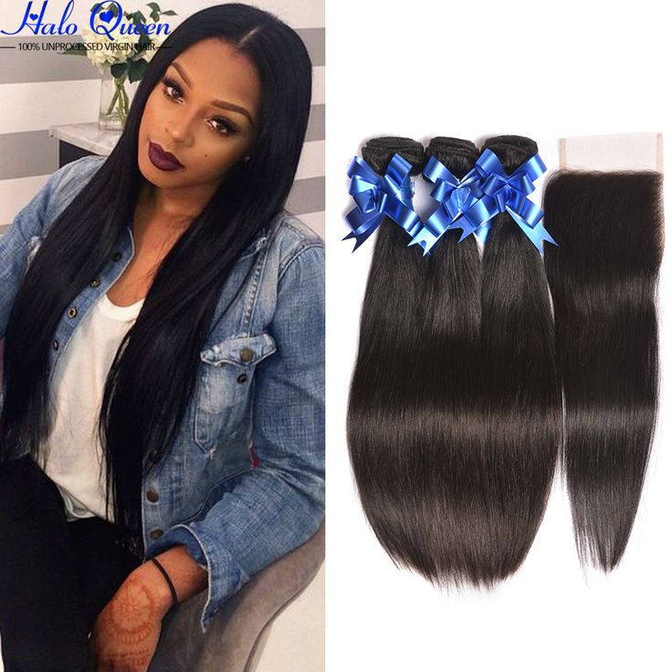 Best Selling 7a Brazilian Virgin Hair Straight With Closure 2 Bundles With Closure Brazillian Hair Weave Bundles With Closure