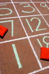 Second Grade Subtraction Activities: Sidewalk Chalk Subtraction